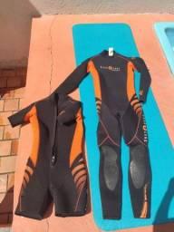 Roupa De Mergulho Aqualung Safaga Completa Duas Peças