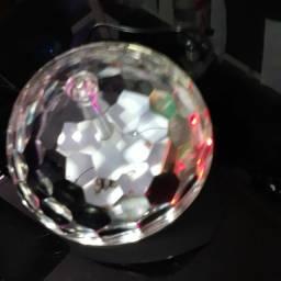 Speakers globo.  Com luz de led colorida.USB, SD, FM, Bluetooth.  Nova.