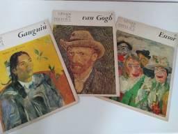 """9 revistas antigas da colação """"Gênios da Pintura"""""""