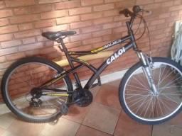 bicicleta bike caloi andes aro 26 com suspensao 21 marchas