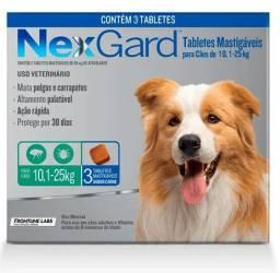Vendo lote fechado de NexGard de 10-25kg e de 25-50kg (cx com 3 tablets)