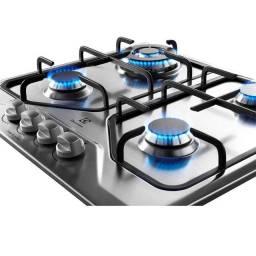 Cooktop 4 bocas Electrolux a Gás Inox (GT60X) - Cooktop 4 bocas