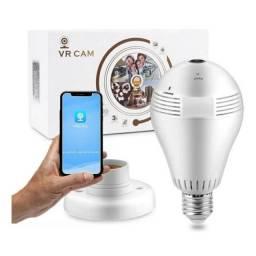 Câmera Segurança Lâmpada Vr360 Panorâmica Wifi