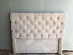 Cabeceira casal estofada de cama box 140 cm