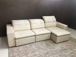 Sofá grande retrátil e reclinável