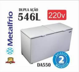 Freezer Horizontal Dupla Ação Metal Frio DA550, 220v