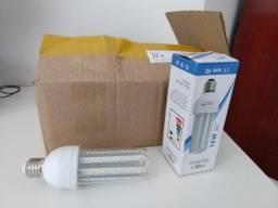 Kit com 10 lâmpadas de Led, 16w, milho, soquete E27, novas