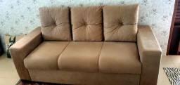 Conjunto de sofá de 3 e 2 lugares Mônaco de veludo