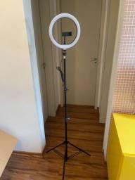 Ring light 10 polegadas com tripé regulável 2 metros