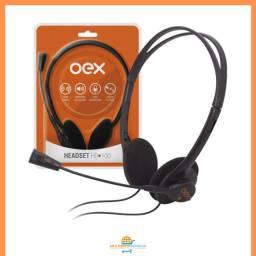 Fone de Ouvido Headset com Microfone OEX P2 Office