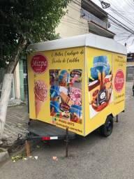 Food Truck Trailer para sorvete em ótimo estado