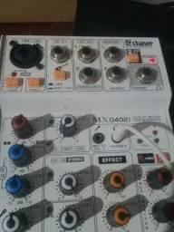 Interface de áudio + mesa de som starner