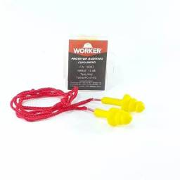 Kit c/ 10 Protetor Auricular Copolímero Worker