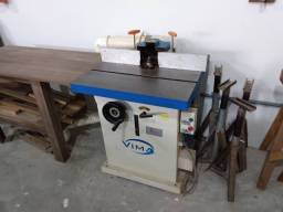 Máquinas marcenaria completa, Serra esquadrejadeira, plaina, coletor pó, Tupia de mesa.