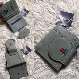 Carteira Playstation Cinza