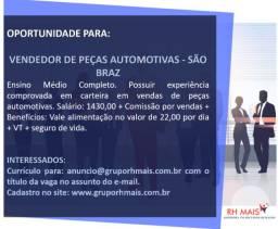 Vendedor de Auto Peças - São Braz