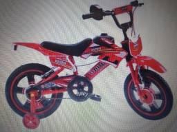 BICICLETA INFANTIL UNITOYS MOTO CROSS ARO 16 V-BRAKES