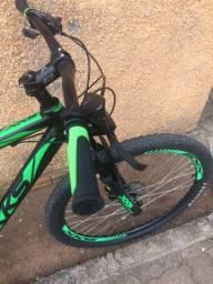 Bicicleta Xks Aro 29 Preta com Verde - Quadro 21