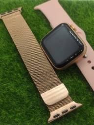 Relógio inteligente Smartwatch iwo w26 + Pulseira extra milanese