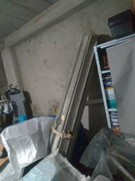 Porta de aço para comércio de 2,40 metros de largura