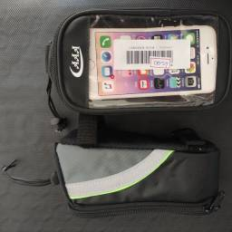 Bolsa porta acessórios e celular para bike