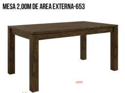 Mesa de madeira ( 8 lugares )