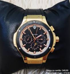 Relógio automático masculino Tevise cronógrafo