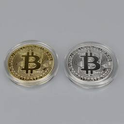 Moeda Bitcoin Encapsulada