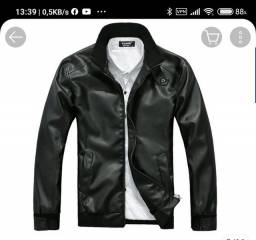 Jaqueta de couro sintético motociclista tamanho xxl  novinha sem uso