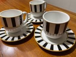 Jogo de cafezinho Porto Brasil Ceramica