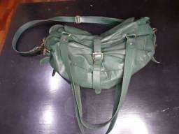 Bolsa couro verde musgo