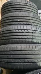 4 pneus 205/55/16 marca westlak 100%borracha semi novos 1 semana de uso