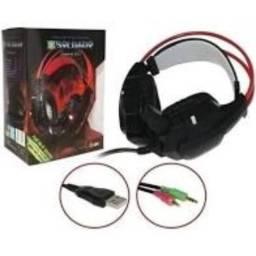 Fone Microfone Headfone Game Led Super Bass Stereo Gh-x20