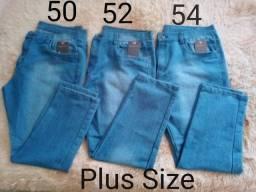 Calça Jeans Masculina S/lycra Plus Size