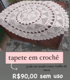 Tapete de crochê ou pode usar de toalha