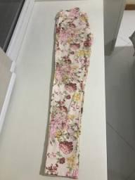 Calça floral da zara tamanho 36 Rosa