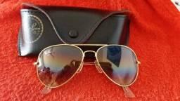Óculos Ray Ban Aviador dourado