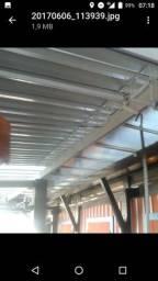 Coberta em aluminio zetaflez