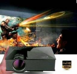 PROJETOR WIFI UC46 1080p HD - NOVA VERSÃO 150 POLEGADAS - 1200 LUMENS