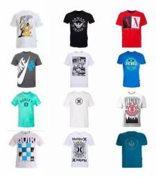 Kit 10 camiseta camisas masculina marca estampada top atacado