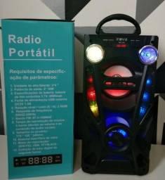Caixa de som Inova usb radio fm grande forte potente nova na caixa em P.Alegre-rs