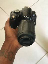 Nikon D3100 lente 55 ~ 200mm