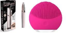 Promoção KIT 1 Aparador de Sobrancelhas + 1 Esponja Elétrica Facial
