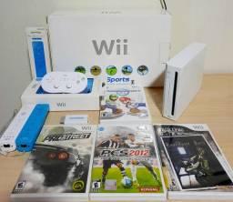 Nintendo Wii Bloqueado Branco de Coleção