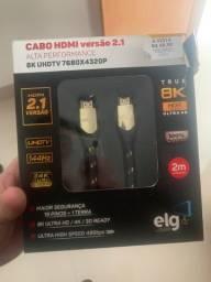 Cabo HDMI 2.1 144hz 8k/4K 2m de comprimento