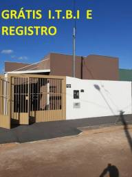 Grátis I.T.B.I e Registro Linda Casa Jardim Aero Rancho