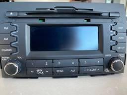 Rádio AM e FM, CD, MP3 original KIA SPORTAGE