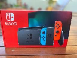 Nintendo Switch 32GB Neon Red/Neon V.2 + Pokémon Shield
