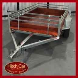 Carretinha no estilo fazendinha de 1,20 x 2m da Hitch Car onde a qualidade é garantida
