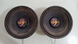 """2 Alto falantes 10"""" 125w da Bravox"""